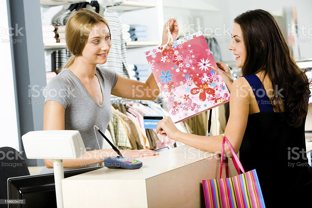 Payment in the store stock photo