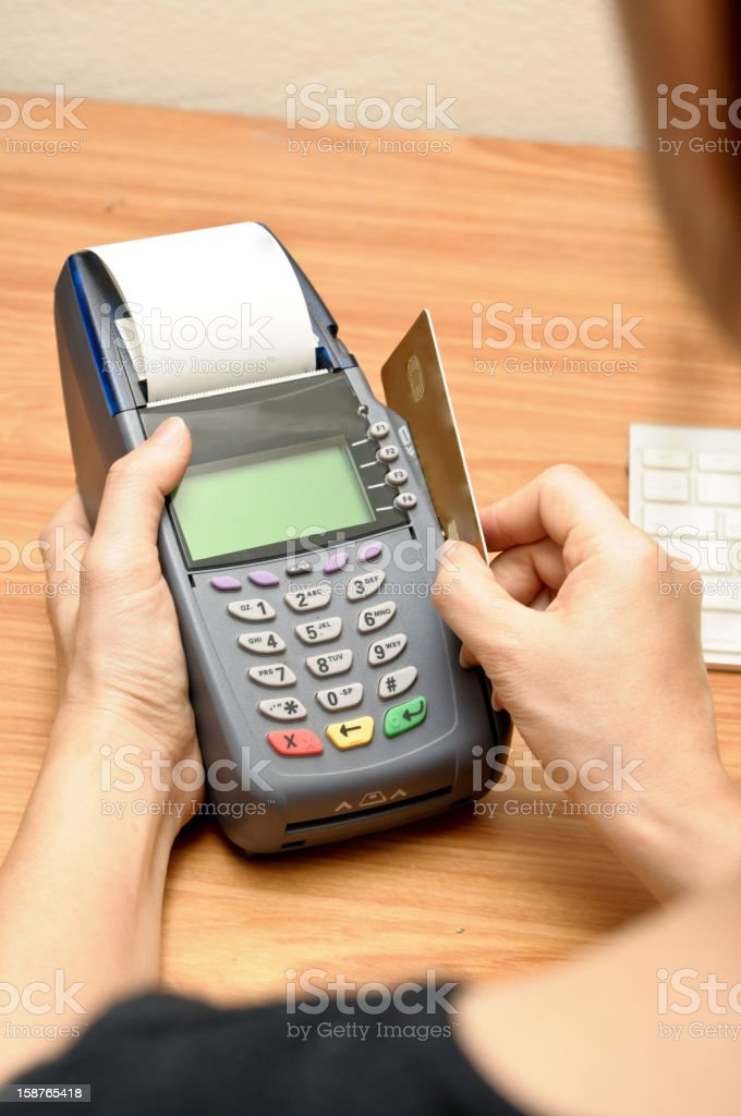 payment machine and Credit card royalty-free stock photo