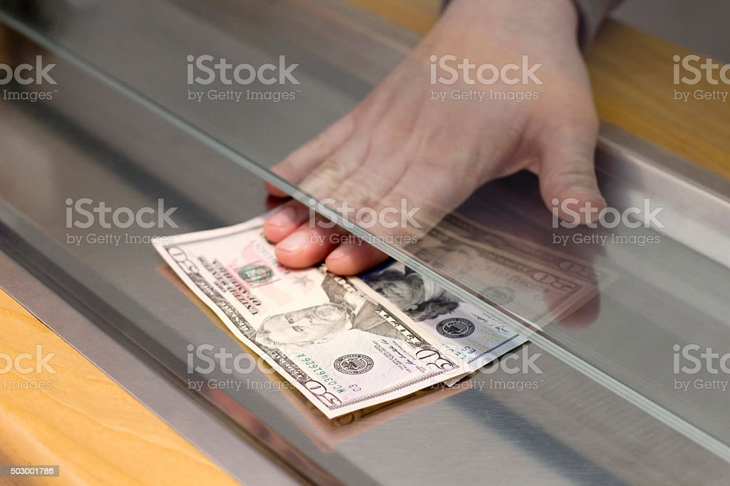 Payment one Banknotes stock photo