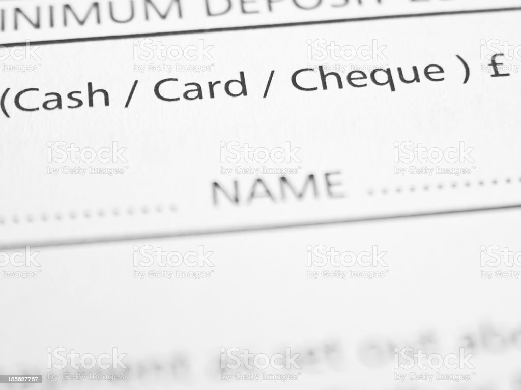 Payment options royalty-free stock photo