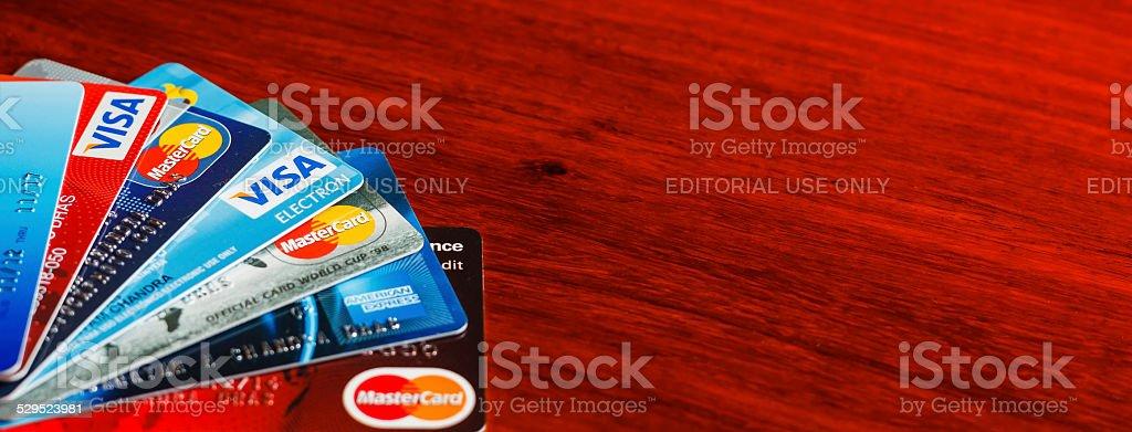 Soluciones de pago de las tarjetas de crédito y de débito - foto de stock