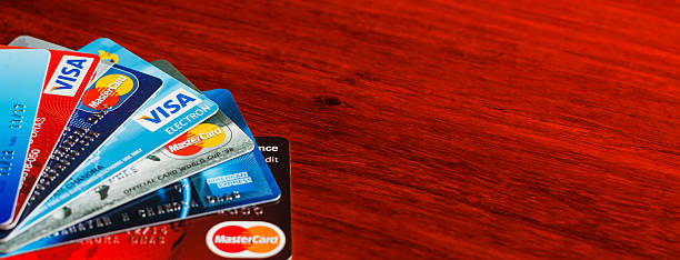 Payment Solutions - Credit and debit cards stock photo