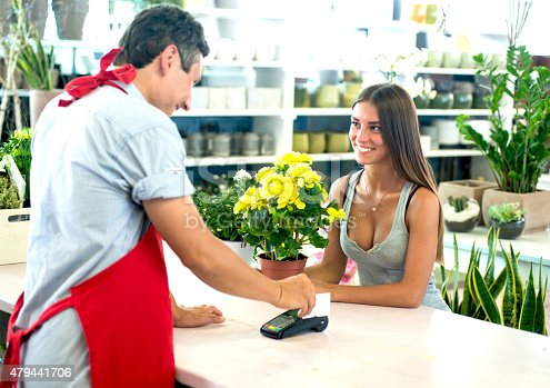 Payment with a Credit Card at The Florist