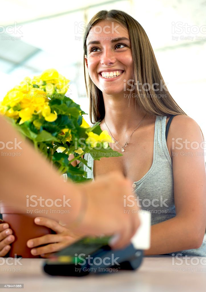 Payment with a Credit Card stock photo
