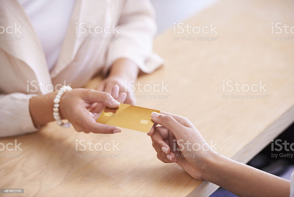 Payments have never been easier stock photo