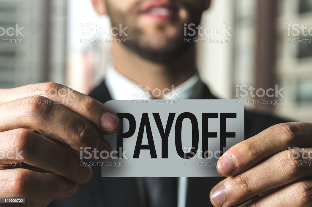 Payoff stock photo