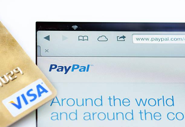 paypal e visa www - paypal foto e immagini stock