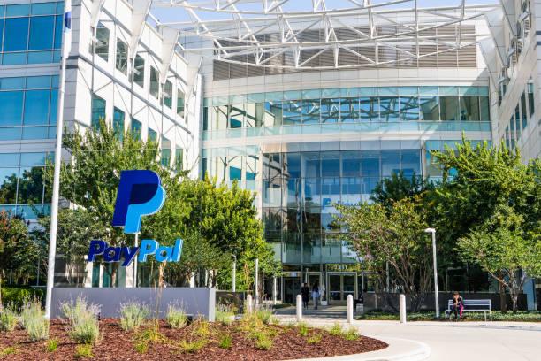 paypal headquarters in san jose, silicon valley - paypal foto e immagini stock