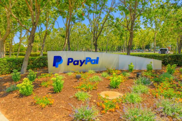 paypal hq sign california - paypal foto e immagini stock