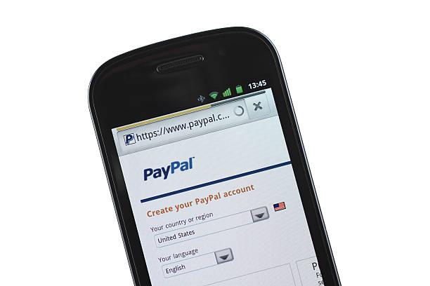 paypal sito mobile - paypal foto e immagini stock