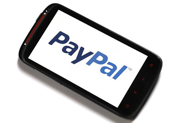 PayPal phone stock photo
