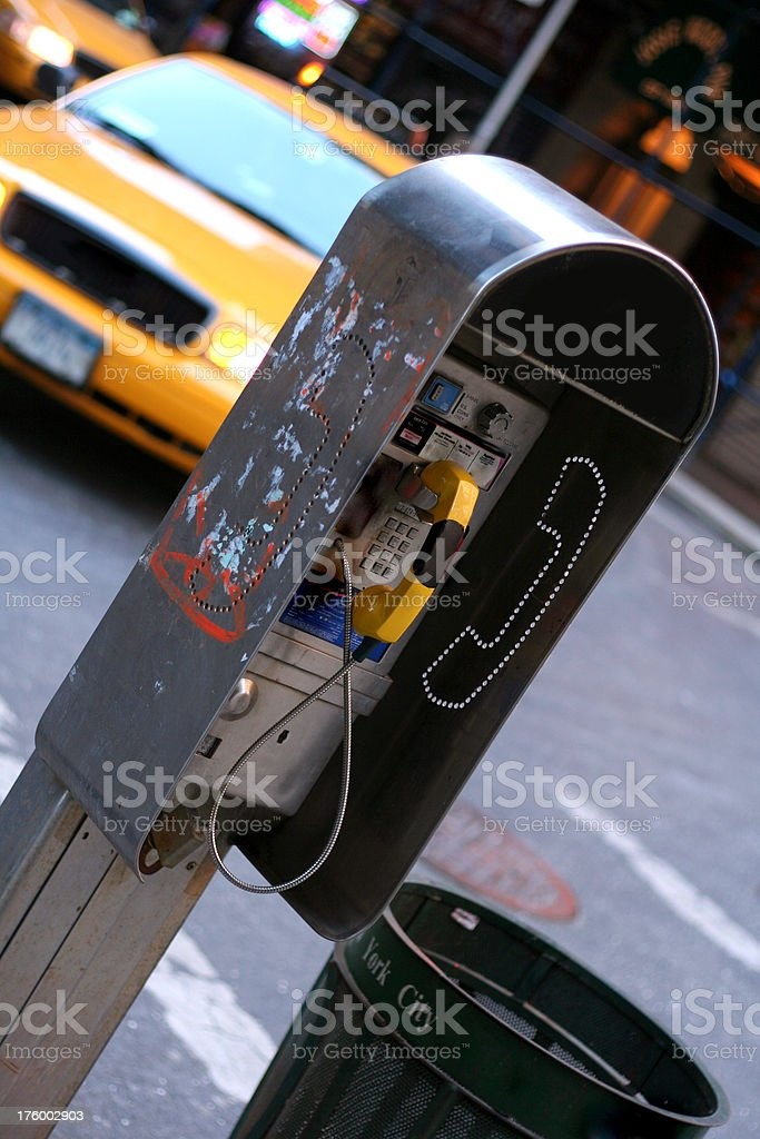 Payphone in New York royalty-free stock photo