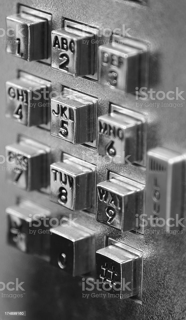 Payphone keypad royalty-free stock photo