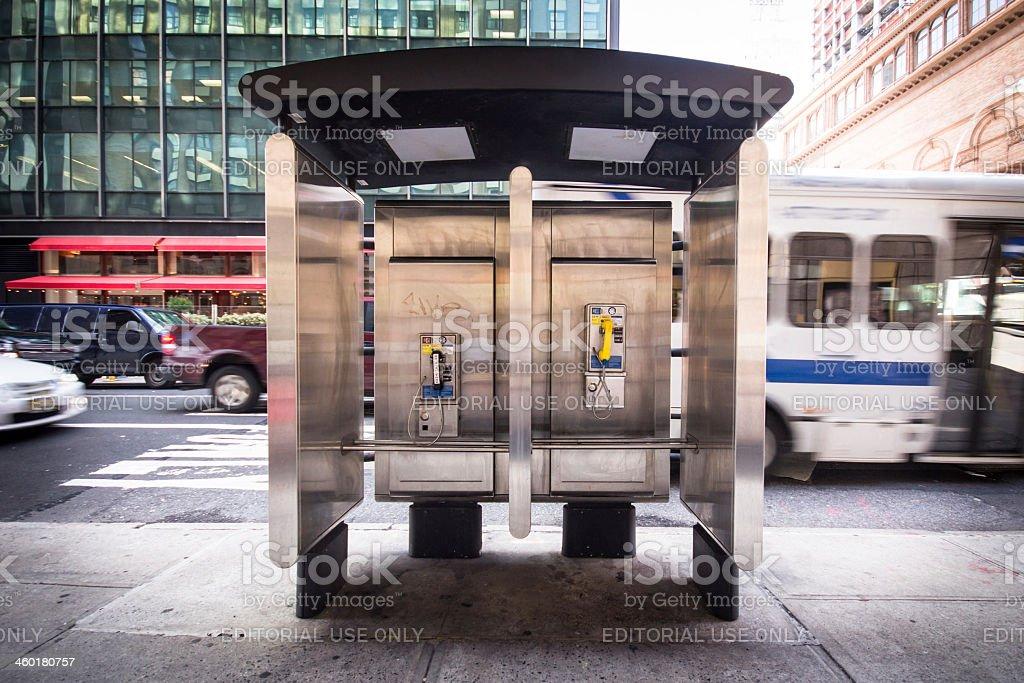Payphone NYC stock photo