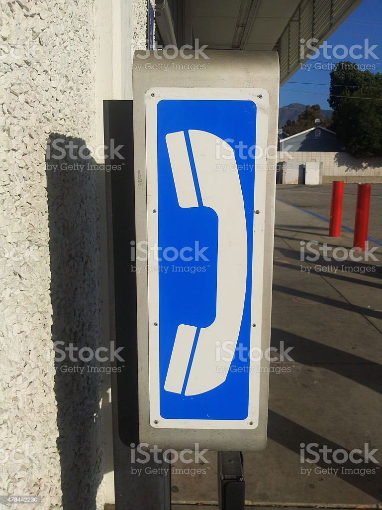 Payphone - side view royalty-free stock photo
