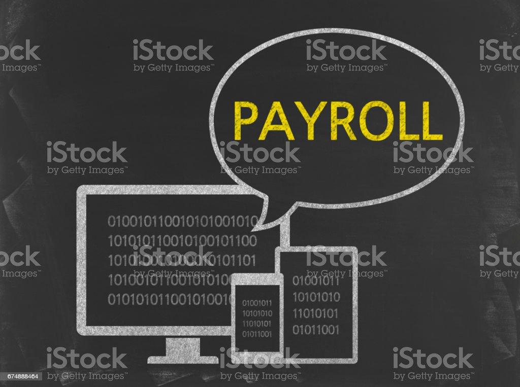 Payroll - Business Chalkboard Background - Foto stock royalty-free di Affari