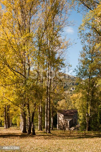 Paysage d'automne, à Quézac en Lozère - Parc National des Cévennes