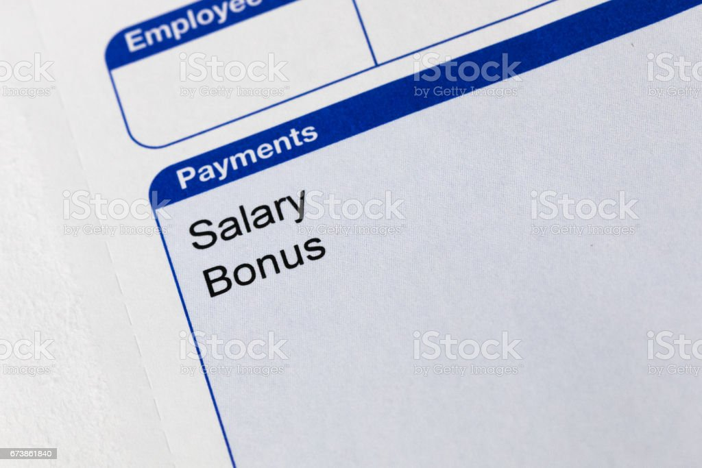 Payslip royalty-free stock photo