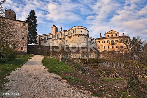 Pazin, Istria, Croatia: view from the countryside of the old town