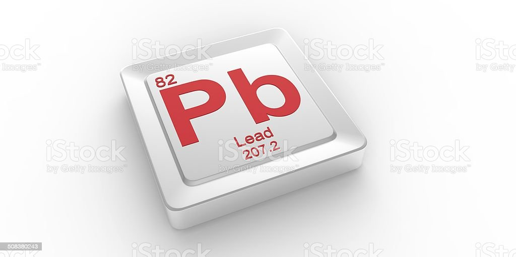 Pb Symbol 82 Material For Lead Chemical Element Stock Photo More