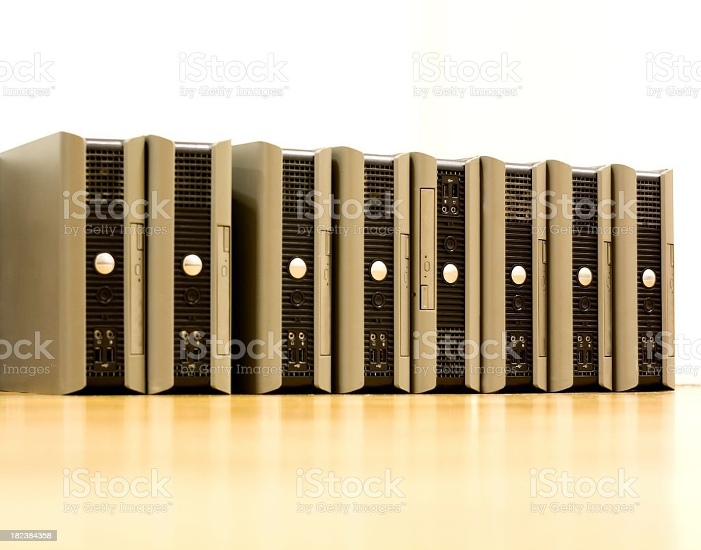 Pc Clients in a row royalty-free stock photo