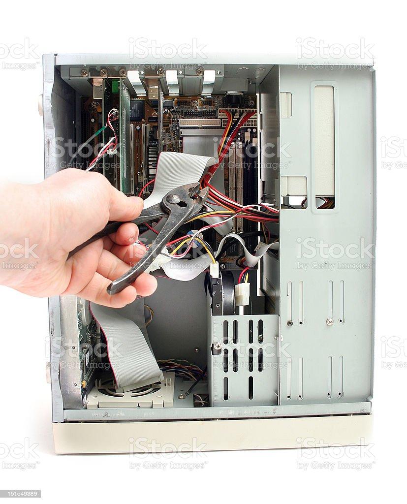 pc computer repair royalty-free stock photo