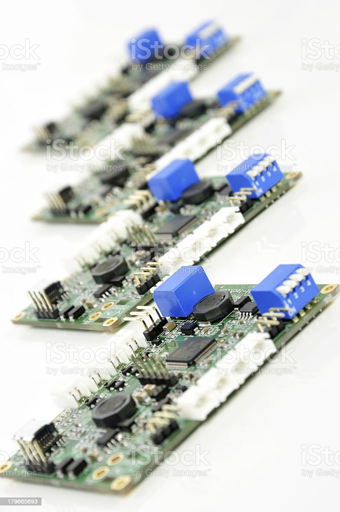 PCBs Assembled units royalty-free stock photo