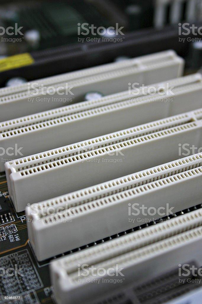 PCI-slot royalty-free stock photo