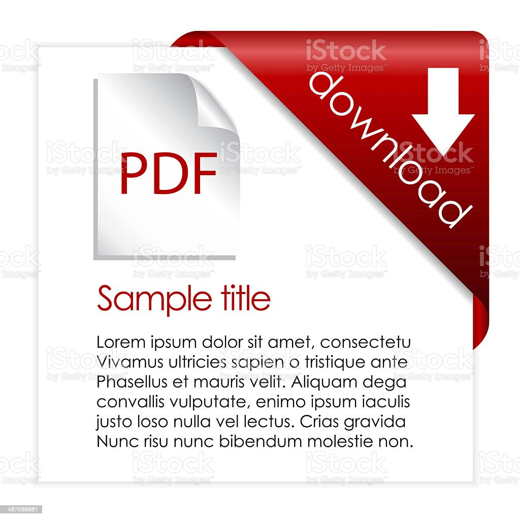 Pdf file download icon stock photo