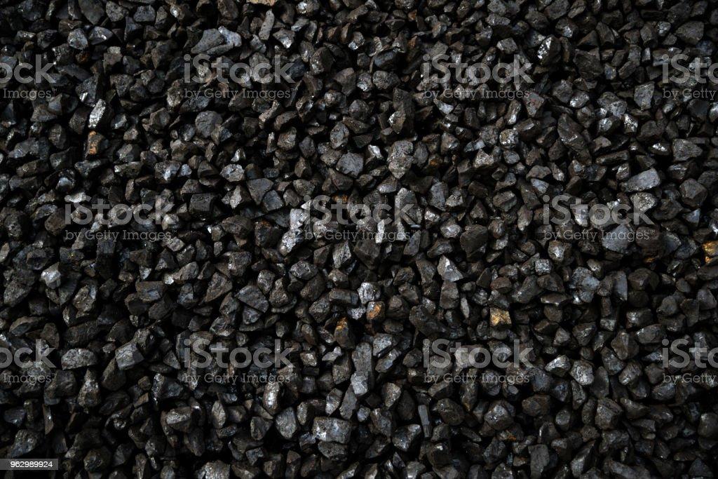 pea grade of brown coal stock photo