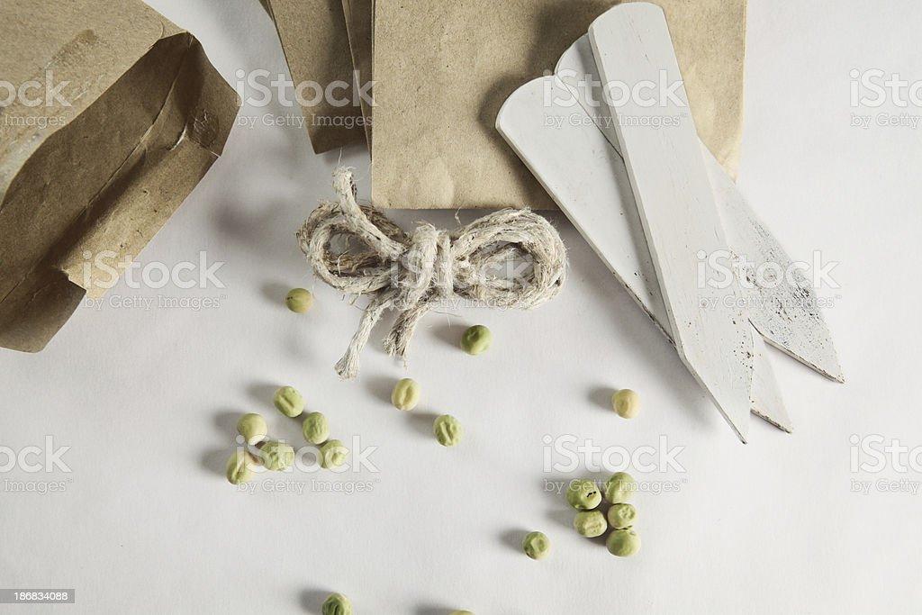 pea seeds stock photo