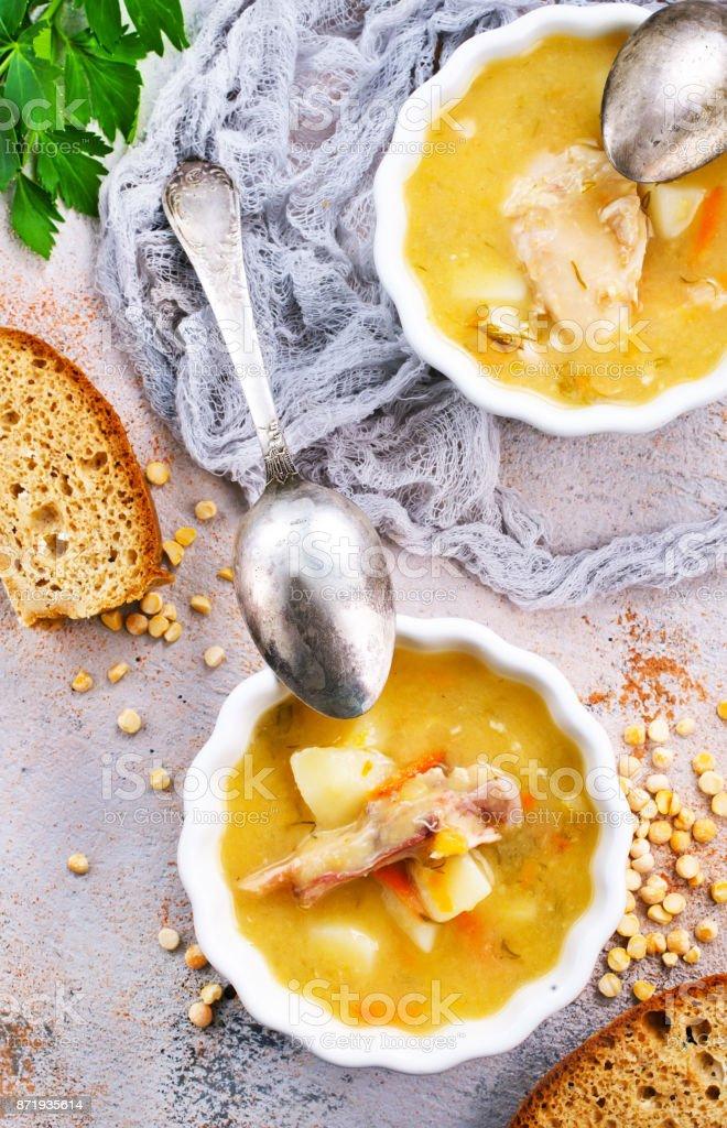 pea soup stock photo