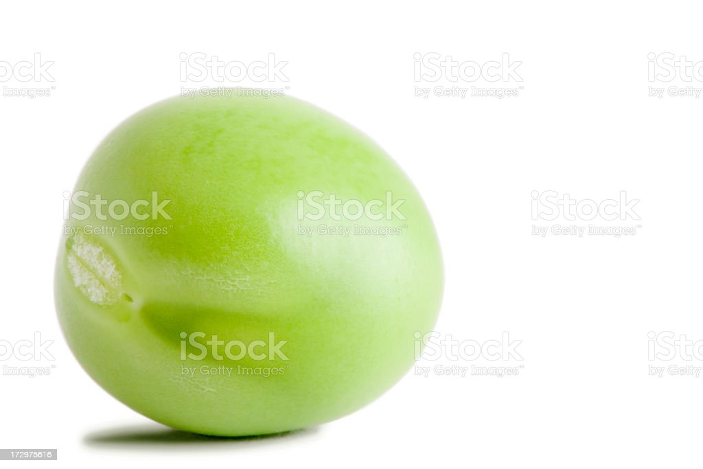 Pea vegetable isolated on white stock photo