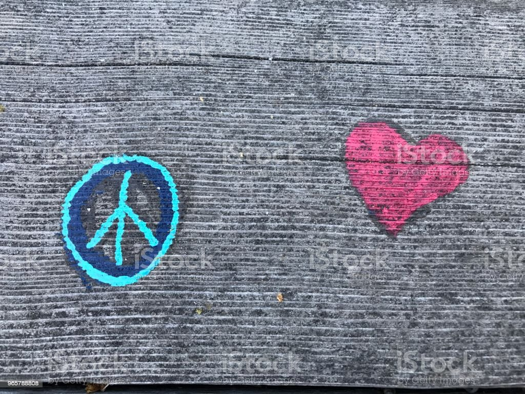 Peace and Love - foto stock