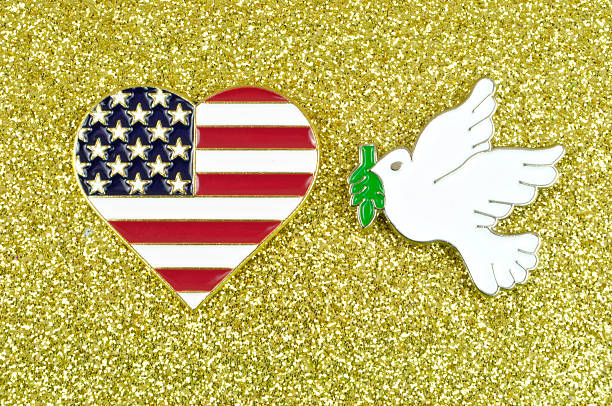 Peace and Love USA stock photo