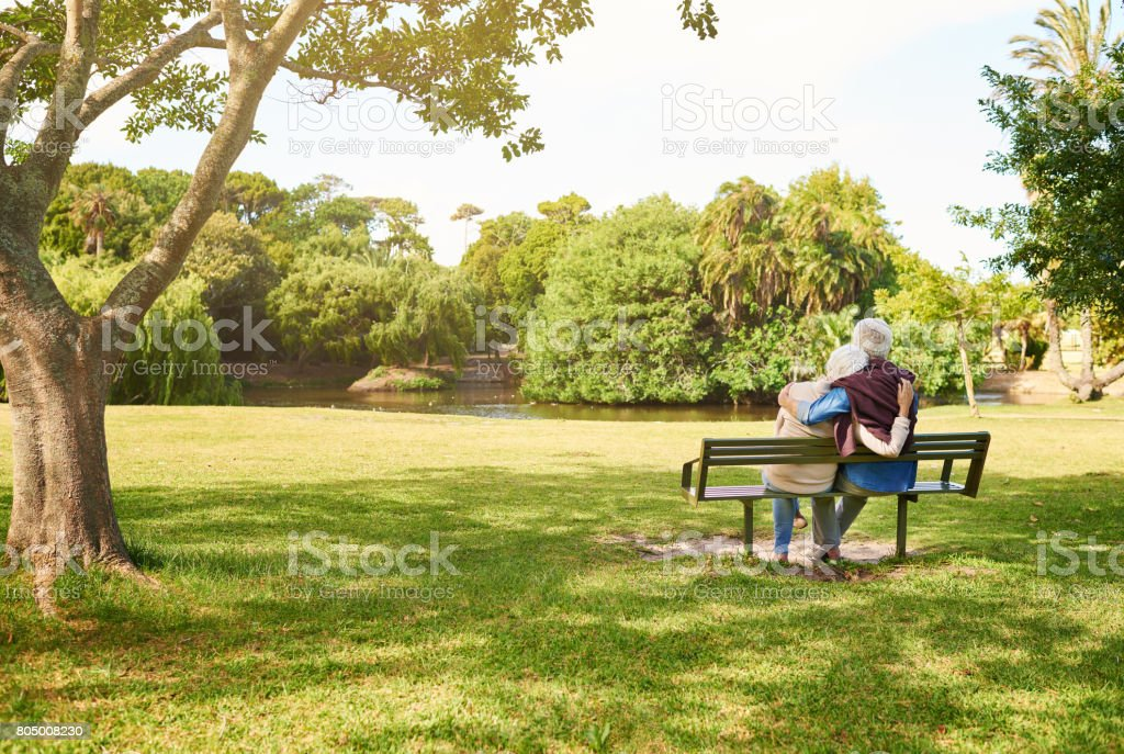 Peace and quiet out in the park stock photo