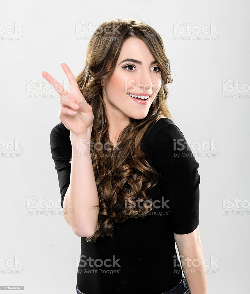 peace and smile stock photo
