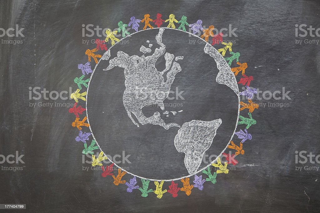 Peace Around the World stock photo