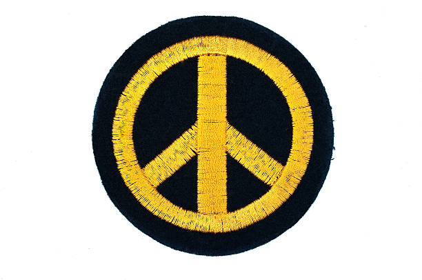 peace badge - symbols of peace stock pictures, royalty-free photos & images