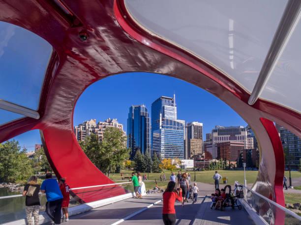 Peace Bridge, Calgary - foto stock
