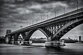 Peace Bridge in black and white