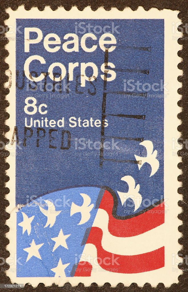 Peace Corps stamp stock photo