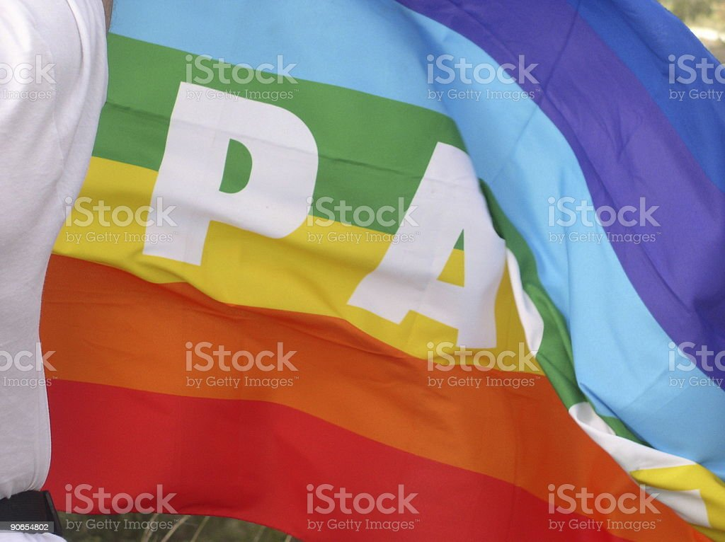 Peace flag - pace royalty-free stock photo