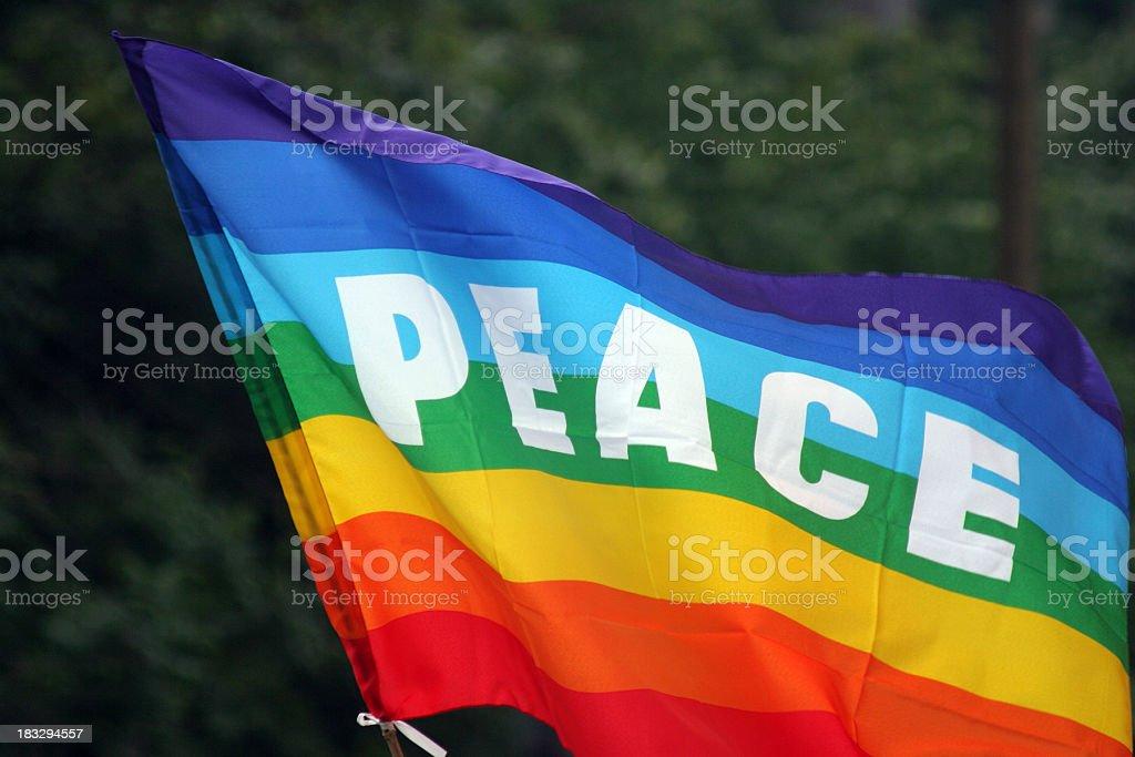 Peace flag royalty-free stock photo