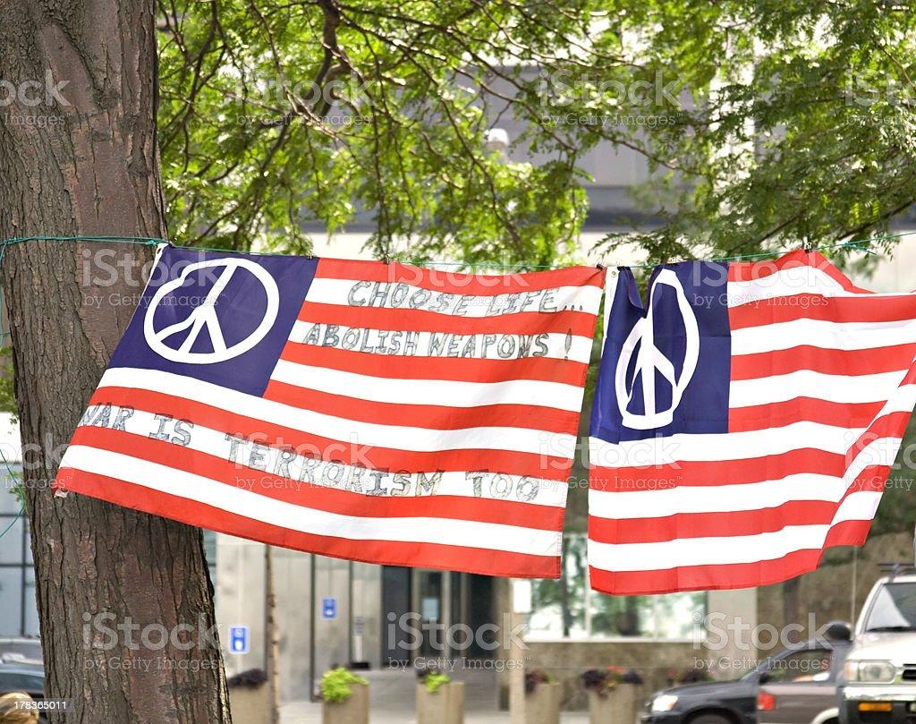 Peace Flags stock photo