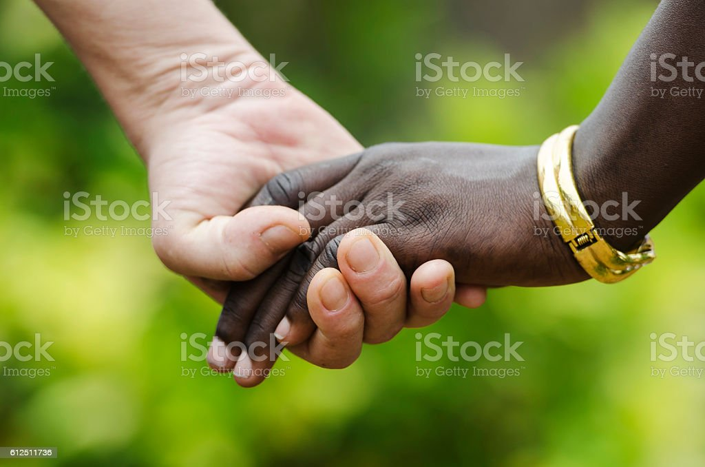 Peace for everybody! Stop racism, symbol for Peace and Love! stock photo