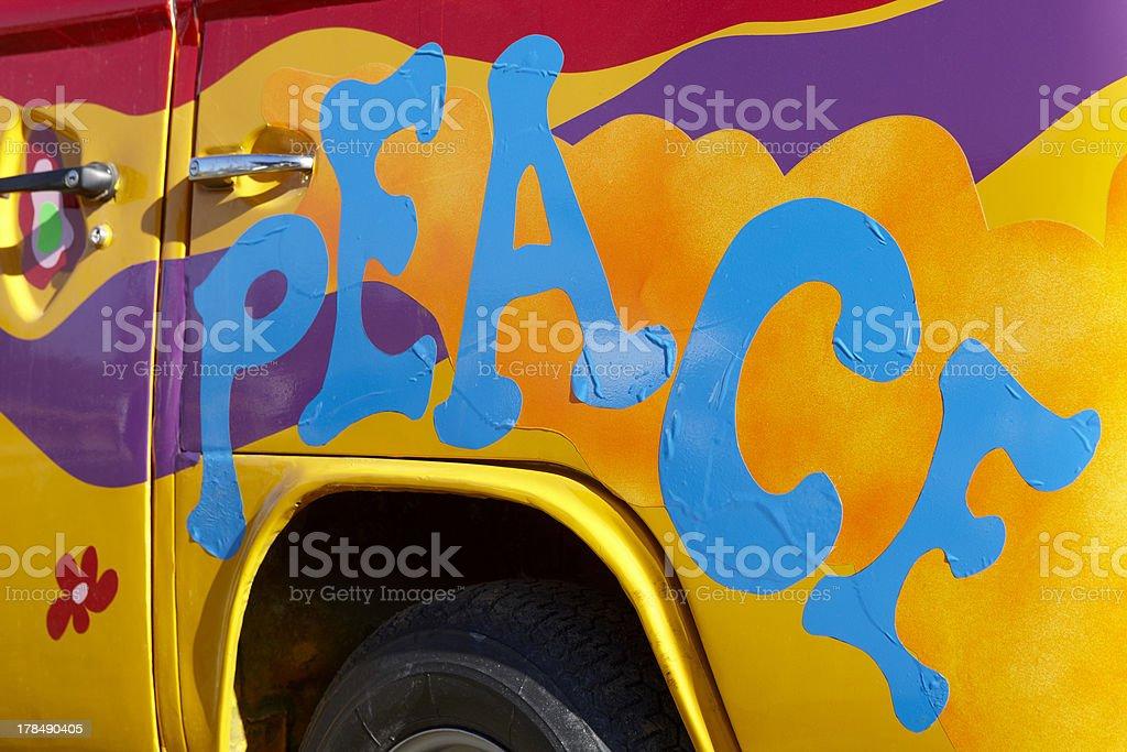 Peace graffiti stock photo