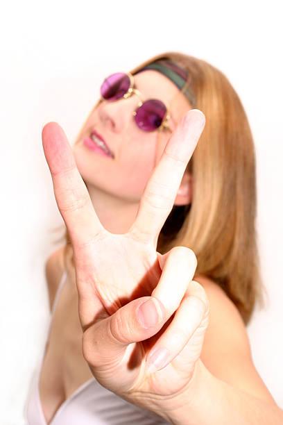 peace hippie - hippie kostüm damen stock-fotos und bilder