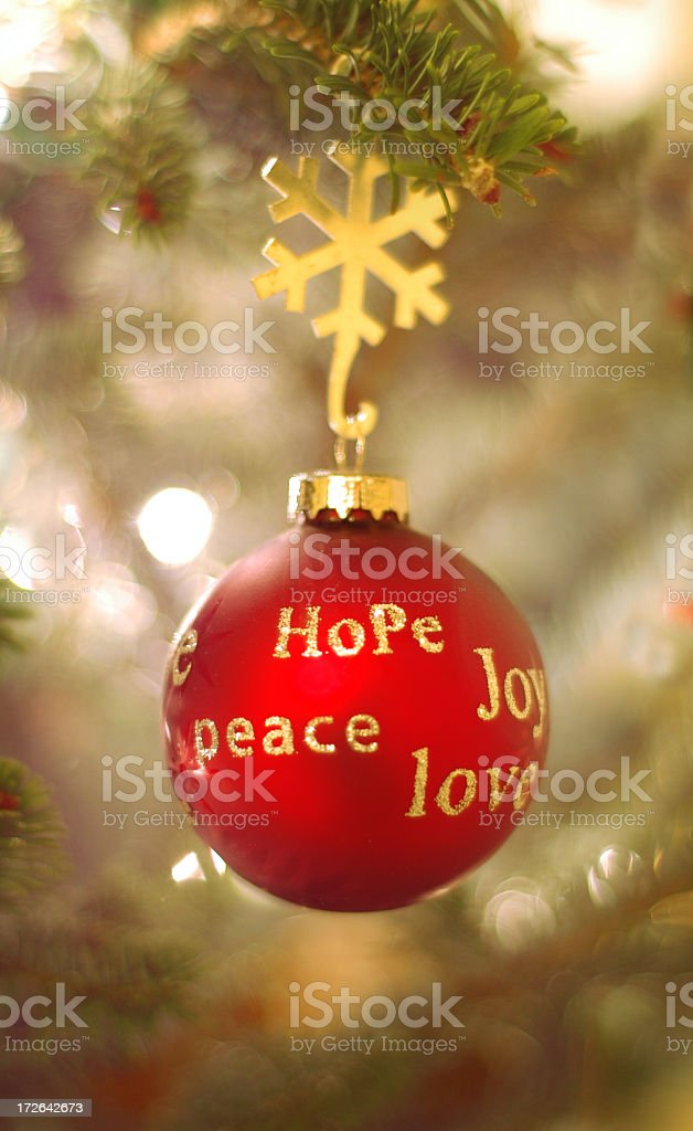 Peace, hope and lobe ornament royalty-free stock photo