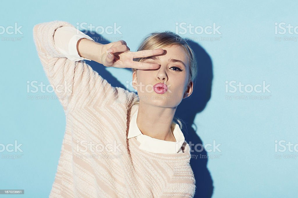 Peace, love and beauty stock photo